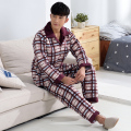 -25  Degree ! Russian winter overalls thick flannel quilted pajamas men's long-sleeved quilted jacket sleepwear men pyjama XXXL