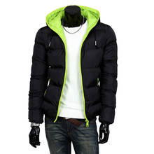 Winter Fashion Parkas Men Casual Warm Cotton Hooded Padded Thicken Outwear Brand Clothing Size M-2XL