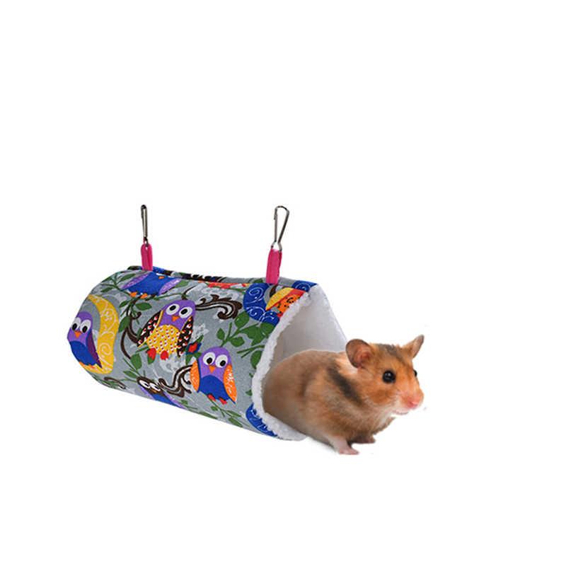 Мягкий теплый туннель качели гнездо клетки маленькие животные висячее дупло Ежик кавиа морская свинья кровать переноска для хомяка белка крыса