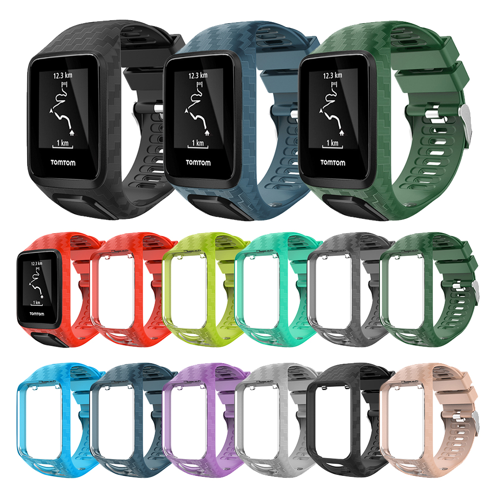 2 in 1 Silicone Replacement Wrist Band Strap With Frame for Tomtom Runner 2 3 Spark 3 GPS Golfer Smart Watch Sports Bands Strap2 in 1 Silicone Replacement Wrist Band Strap With Frame for Tomtom Runner 2 3 Spark 3 GPS Golfer Smart Watch Sports Bands Strap