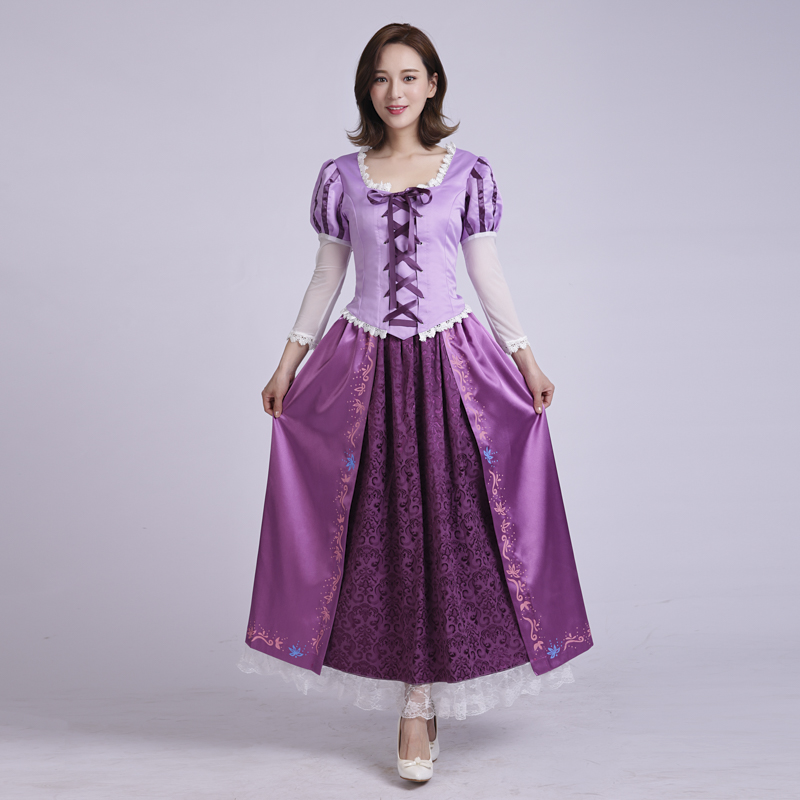 New Arrival Tangled Rapunzel Cosplay Costume For Adult Princess Rapunzel Costume Dress For Women Halloween Party