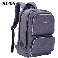 XQXA Canvas Backpack Women Casual Daypack Deer Printing Notebook Computer Backpacks School Bag For Girls Rucksack