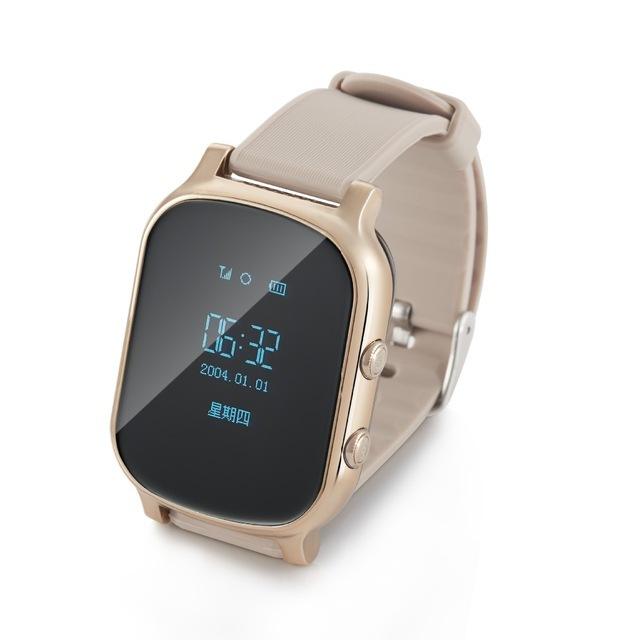 Rastreador gps smart watch t58 para crianças crianças pulseira gps google map sos botão rastreador gsm localizador gps relógio smartwatch