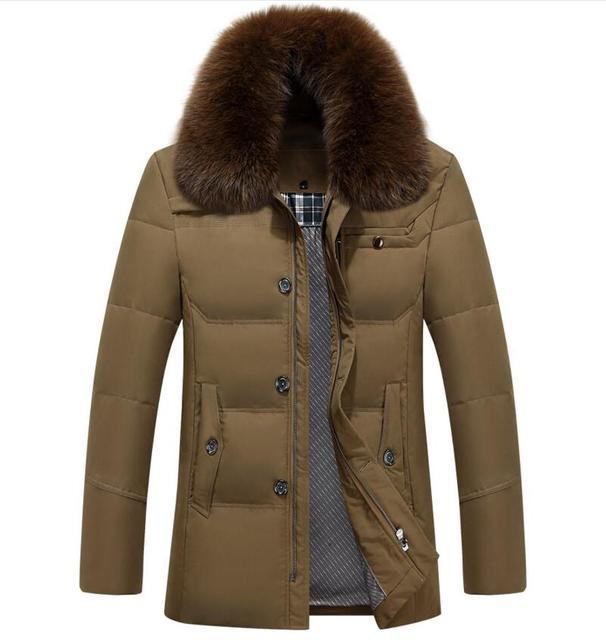 KUNI UNIVOS Homens Jaqueta de Inverno 90% Pato Branco Para Baixo Longa jaquetas Quente Casaco grosso dos homens Casuais Para Baixo Casaco Jaquetas homme Z2736