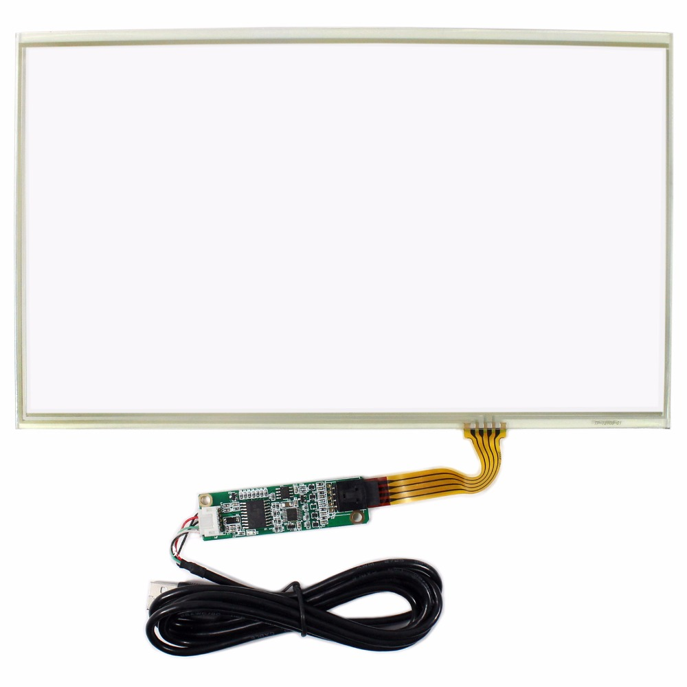 12.1 Resistive Touch Panel For 12.1inch 1366x768 LCD Screen+USB Controller original new laptop led lcd screen panel touch display matrix for hp 813961 001 15 6 inch hd b156xtk01 v 0 b156xtk01 0 1366 768