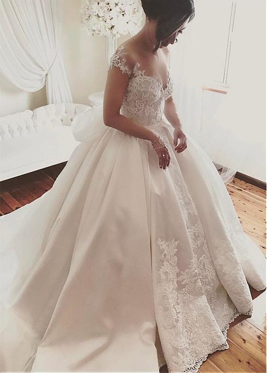 Detachable Vestido De Noiva 2019 Muslim Wedding Dresses Ball Gown Cap Sleeves Lace Vintage Dubai Arabic Wedding Gown Bridal