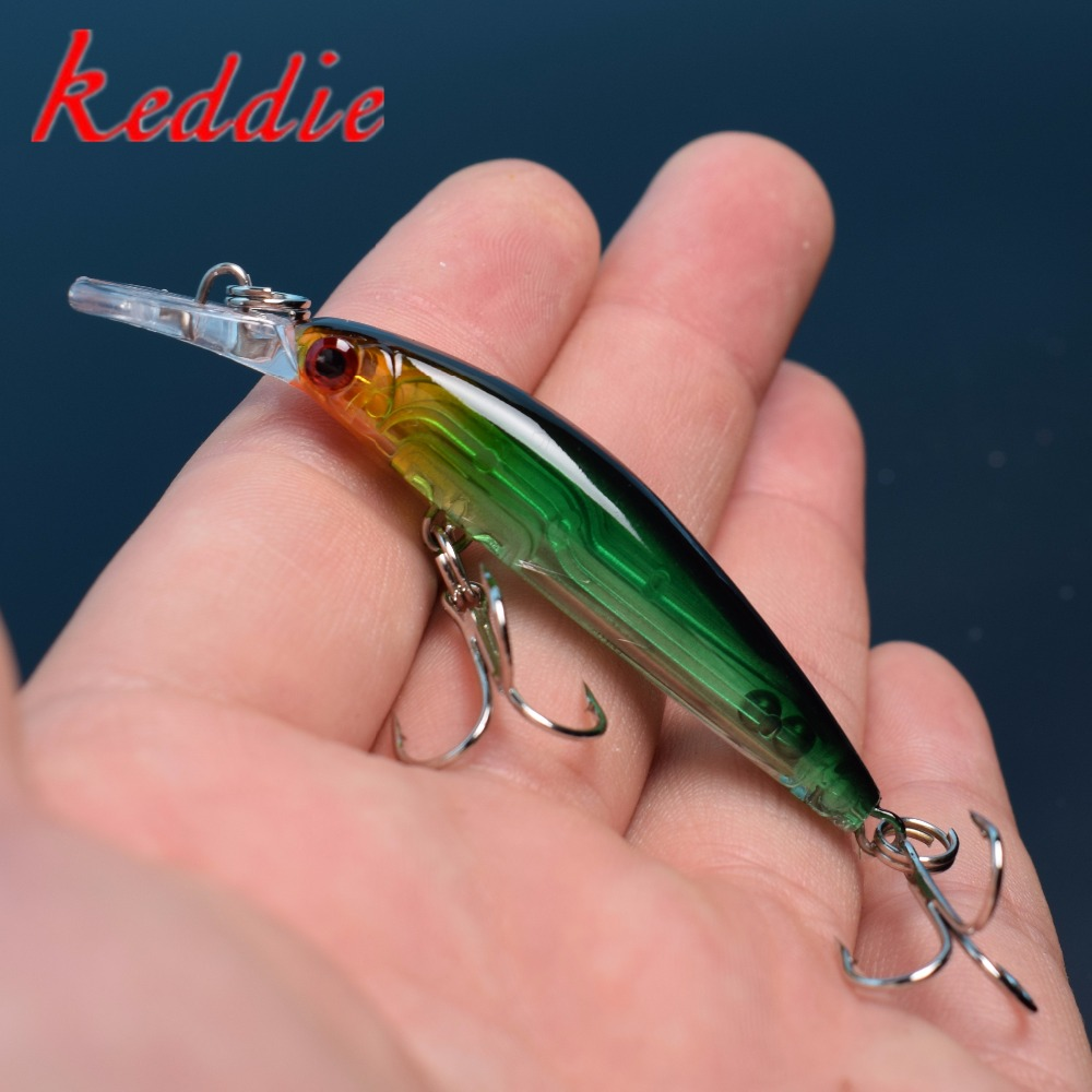 1pcs Minnow Fishing Lures 6 color pesca Bait Bass 7cm / 3.9g Fishing - Pesca - Fotografia 1