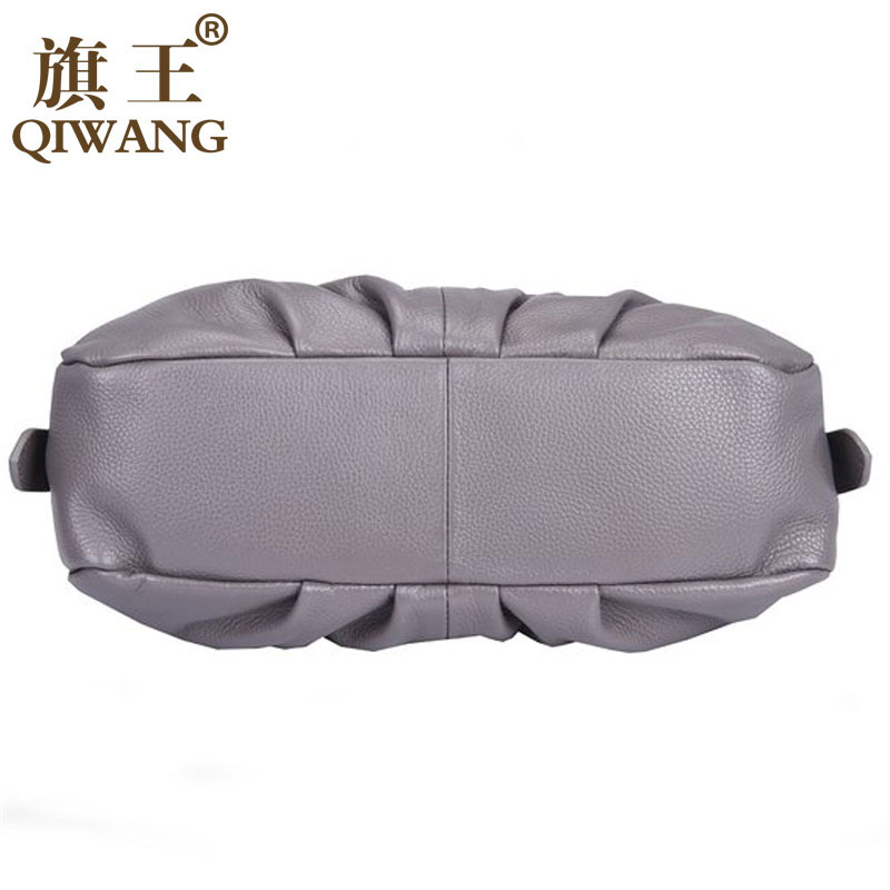 qiwang bolsa de mulher marca Material : Genuine Cowhide Pebble Leather