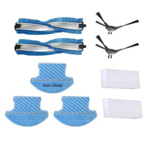 купить Main Brush*2pcs,side brush*2pcs,HEPA filter*2pcs,mop*3pcs for Robot Vacuum Cleaner QQ9 онлайн