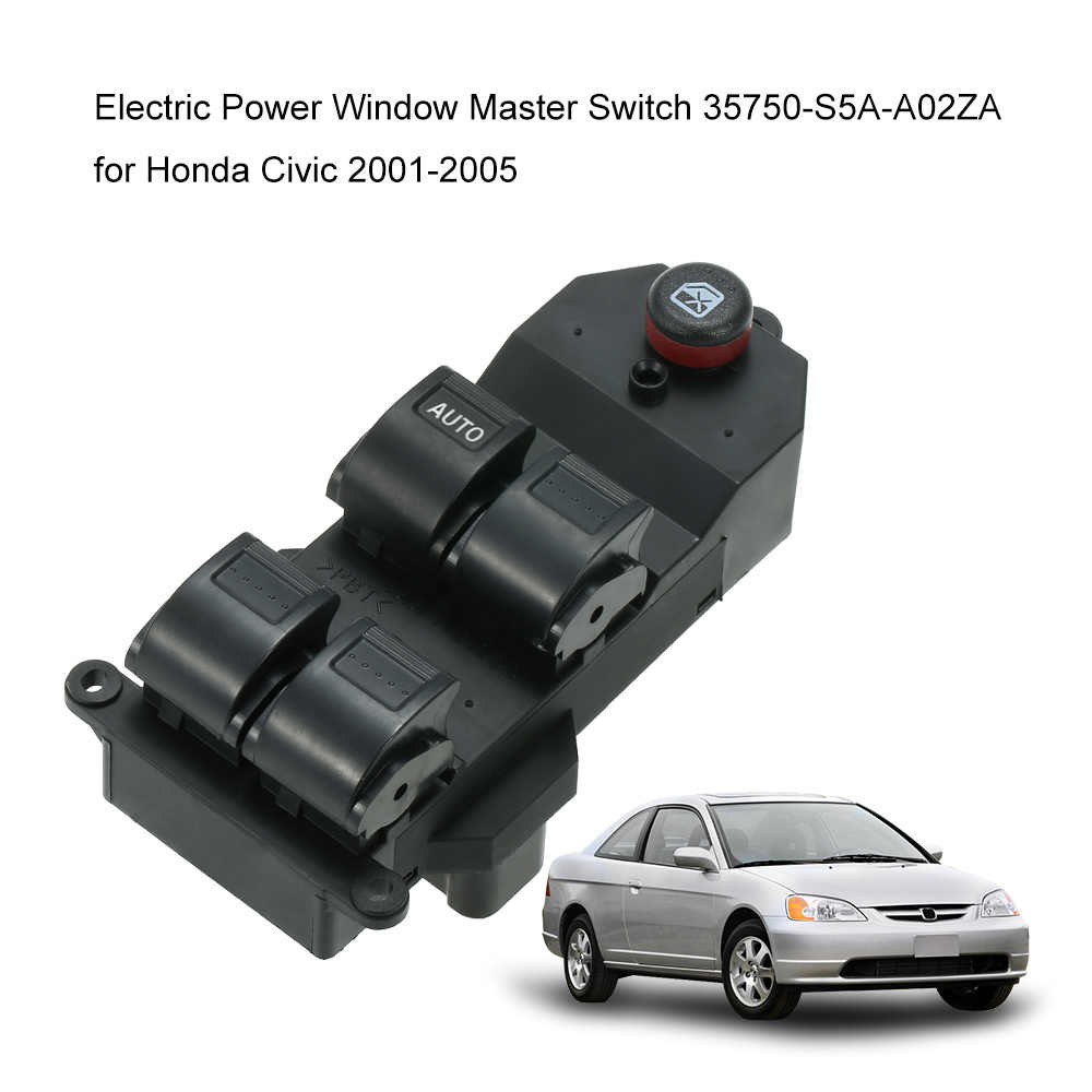 Elektrische Power Window Master Switch 35750-S5A-A02ZA voor Honda Civic 2001-2005