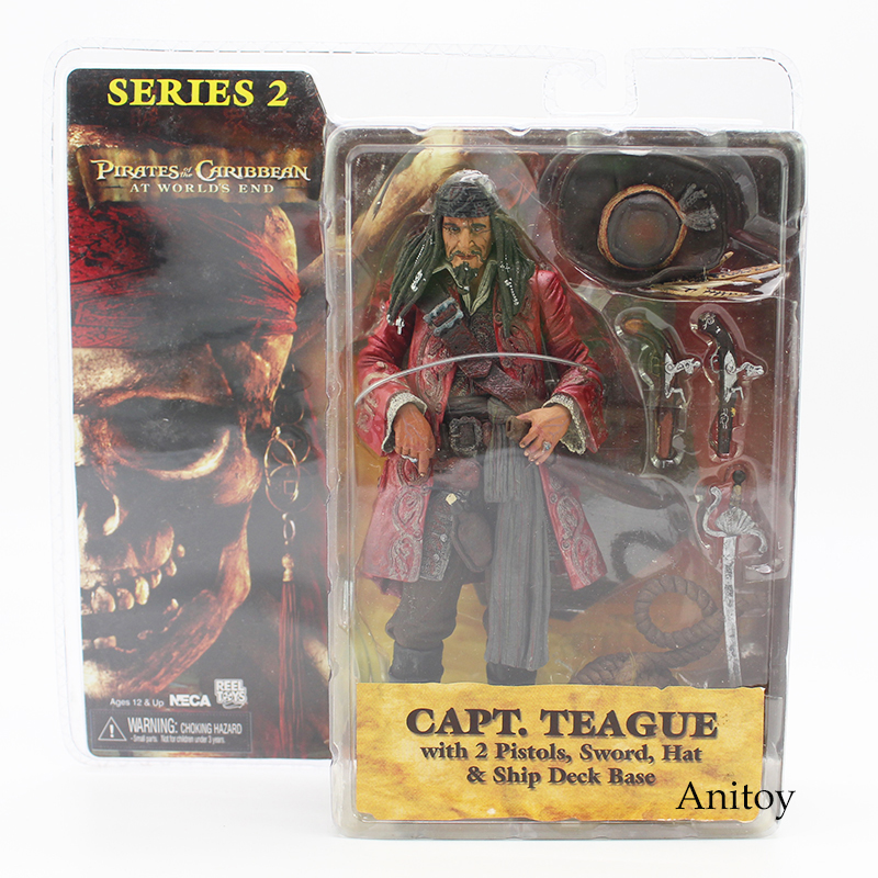 NECA Pirates of the Caribbean At Worlds End Capt Teague PVC Action Figure Toy Model Limited Edition 18cm ...