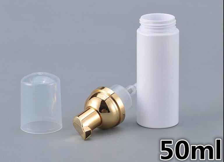 Image 2 - 10pcs 30/50/80ml Plastic Foaming Bottle Soap Mousses Liquid Dispenser Froth Shampoo Lotion Bottling Foam Bottles With Gold PumpRefillable Bottles   -