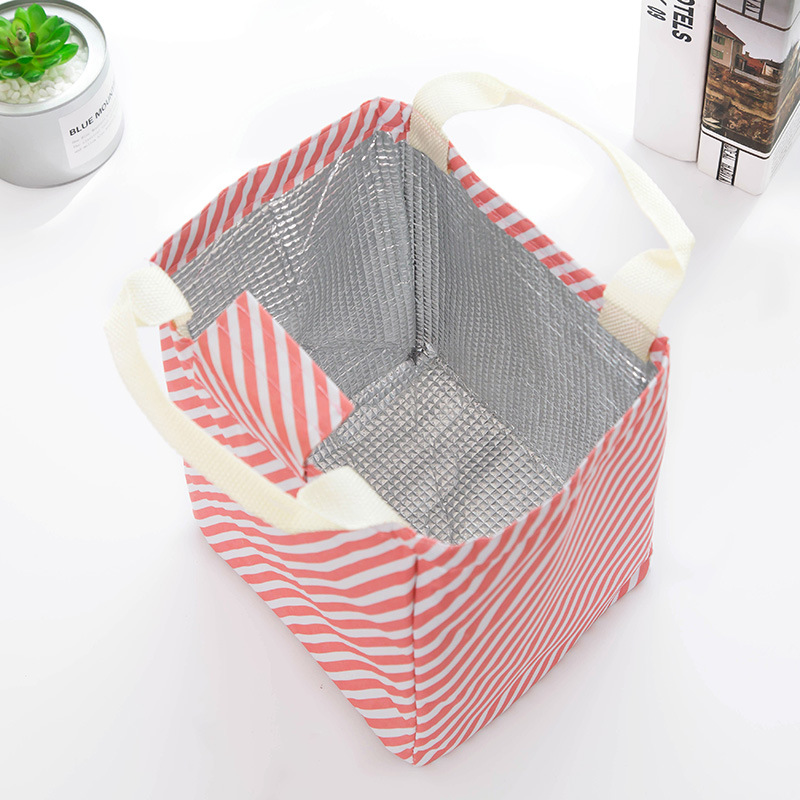 Oxford Simpl etriped Dot Portable Lunch box Bag Thermal Insulated Cold keep Food Safe Stripe warm Lunch bags For Girls Women in Lunch Boxes from Home Garden