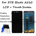 Negro para zte blade a510 ba510 ba510c pantalla lcd con pantalla táctil digitalizador herramientas asamblea gratis