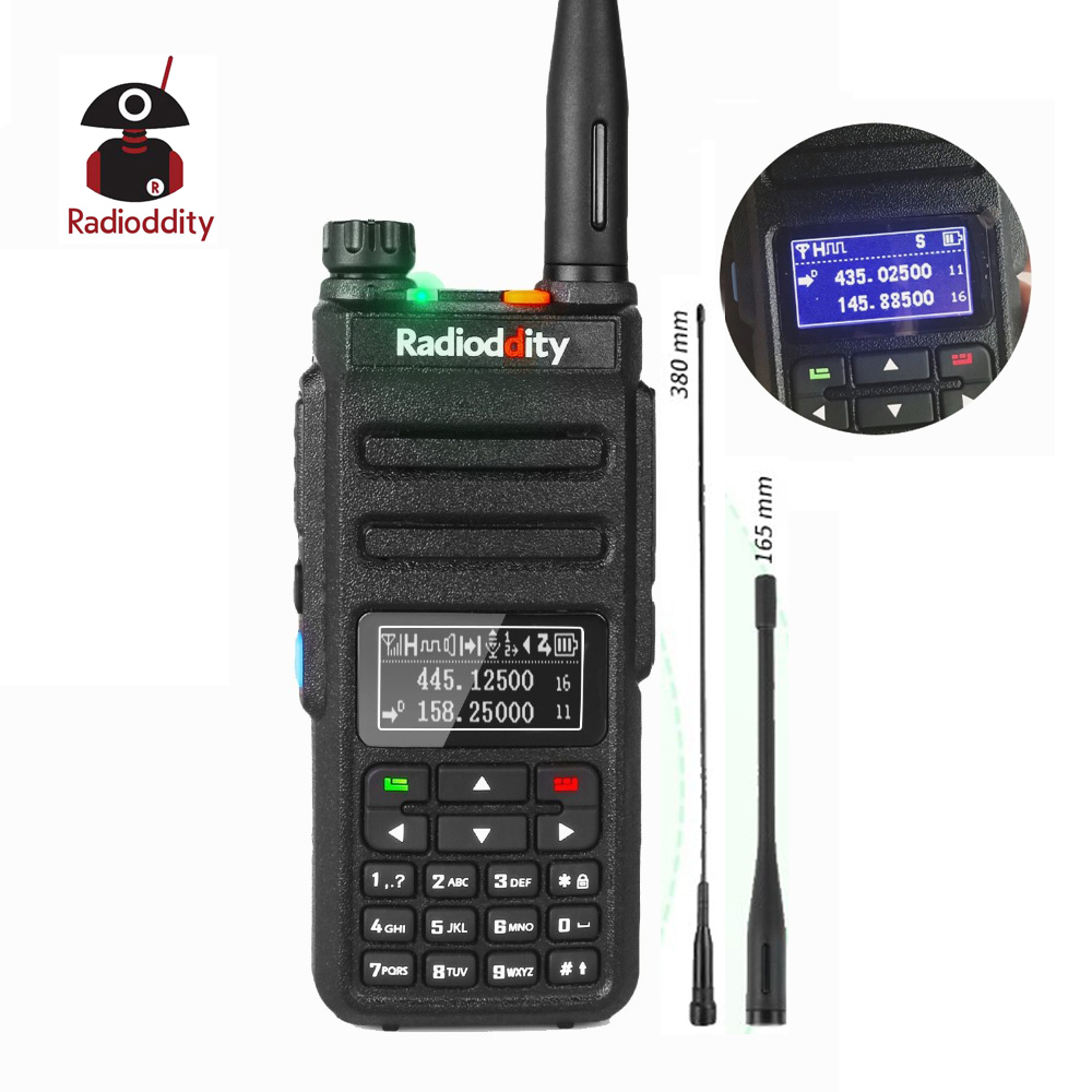 Radioddity GD 77BB Dual Band Dual Time Slot DMR Digital Radios Inverted Display Ham Two Way Radio Walkie Talkie-in Walkie Talkie from Cellphones & Telecommunications    1