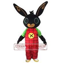 Настоящий Костюм талисмана кролика Бинг костюм Банни маскарадный костюм нарядное платье Рождество косплей для Хэллоуина Пурима маскарадное платье