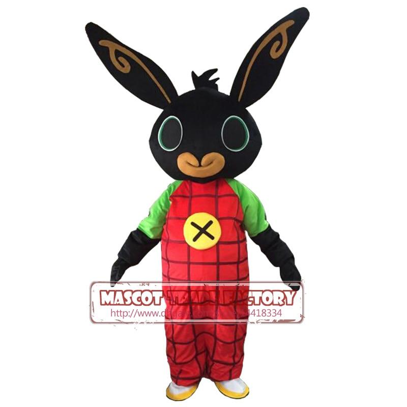 Réel coup lapin BING mascotte costume lapin mascotte costume fantaisie robe de noël Cosplay pour Halloween pourim fantaisie robe