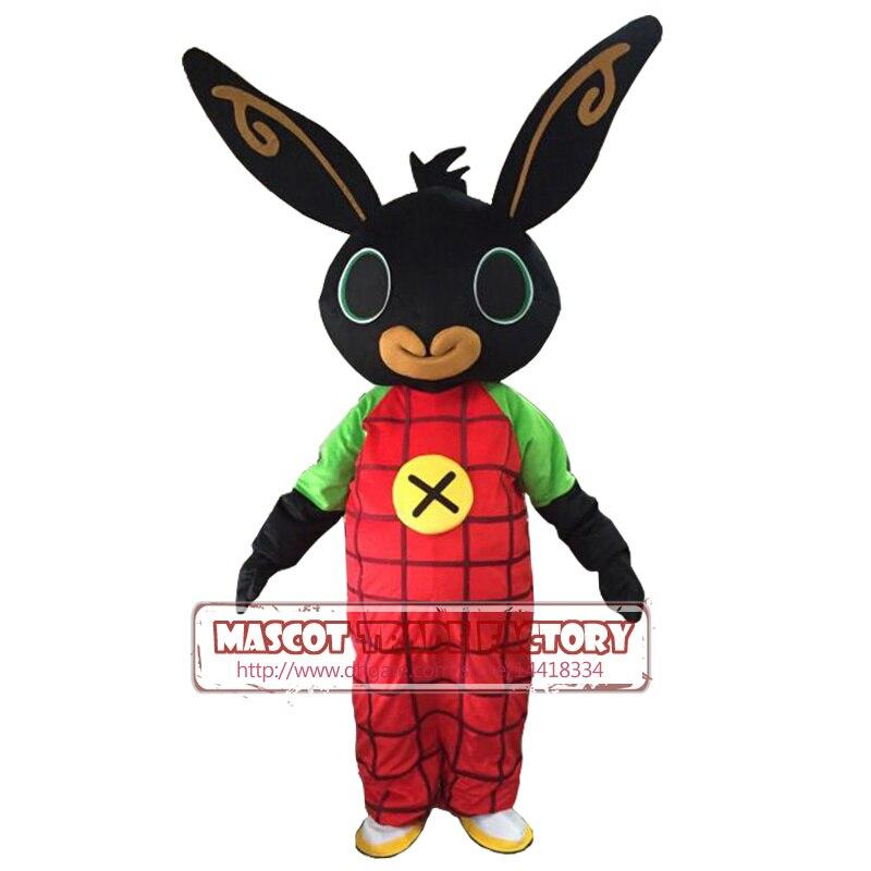 Tiro real coelho traje Da Mascote coelho BING Purim mascot costume Fancy Dress Natal Cosplay para o Dia Das Bruxas do vestido extravagante