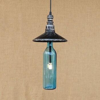 industry LED Bottle pendant lamp vintage bathroom Light Cabinet Living/dining room/bar G4 lamp Pendant Light Fixture 220V