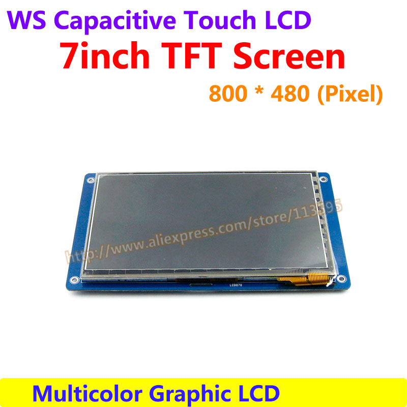 7inch Capacitive Touch LCD Display Module Drive Demo Board development 800*480 Multicolor Graphic LCD TFT TTL Screen LCM