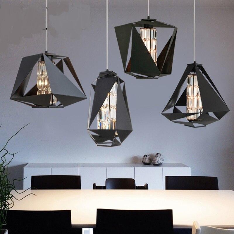 À la mode moderne chambre designer personnalité alternative cristal lampe nordique restaurant vêtements magasin lustre LO7197