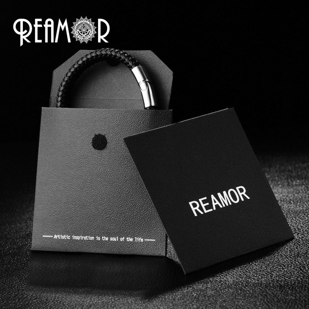 REAMOR 316l Չժանգոտվող պողպատ արծաթե տոնով - Նորաձև զարդեր - Լուսանկար 4