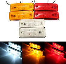 10Pcs 4LED Truck Side Marker Lights Clearance Signal Lamp for 12V/24V Trailer Lorry Red/Yellow/White