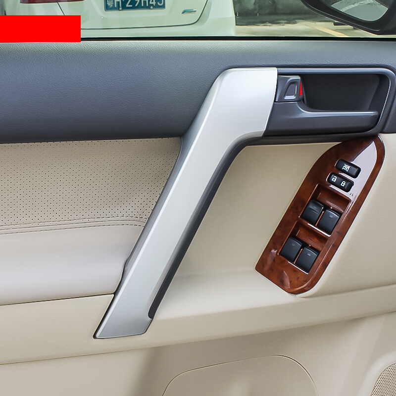 ABS Chrome Interior Door Handle Cover For <font><b>Toyota</b></font> <font><b>Land</b></font> <font><b>Cruiser</b></font> <font><b>Prado</b></font> <font><b>FJ150</b></font> Accessories 2010 2011 2012 2013 2014 2015 2016 2017 image
