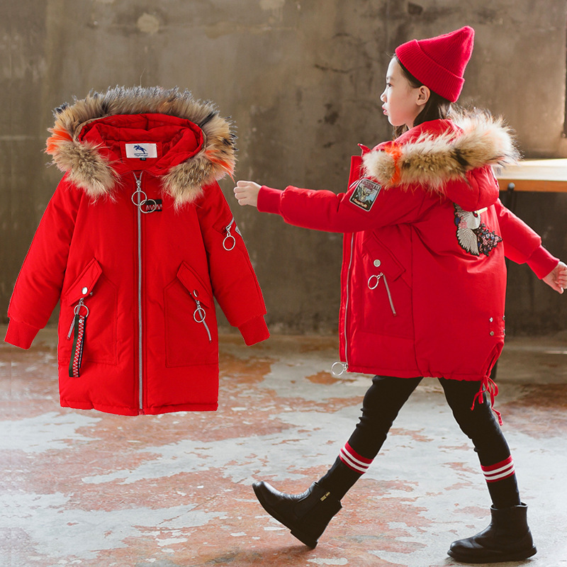 New Childrens Cotton Jackets 2019 Girls Outerwear Korean Hand Stuffed Cotton Coats 5-10 YearsNew Childrens Cotton Jackets 2019 Girls Outerwear Korean Hand Stuffed Cotton Coats 5-10 Years