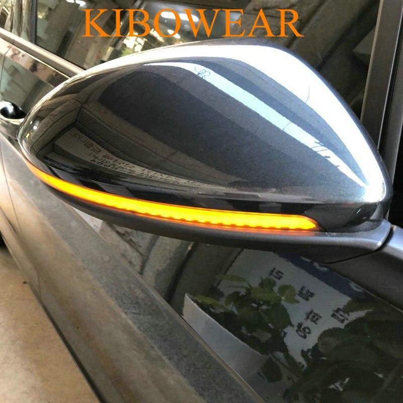 Kibowear для VW GOLF Mk7 7 GTI R GTD динамический мигалка светодиодный указатель поворота полудым для Volkswagen Rline Touran боковое зеркало свет