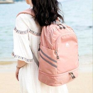 Image 1 - 独立した靴のバックパック服パッキングキューブトラベルオーガナイザーバッグ防水大容量学生バッグスクールポーチアクセサリー