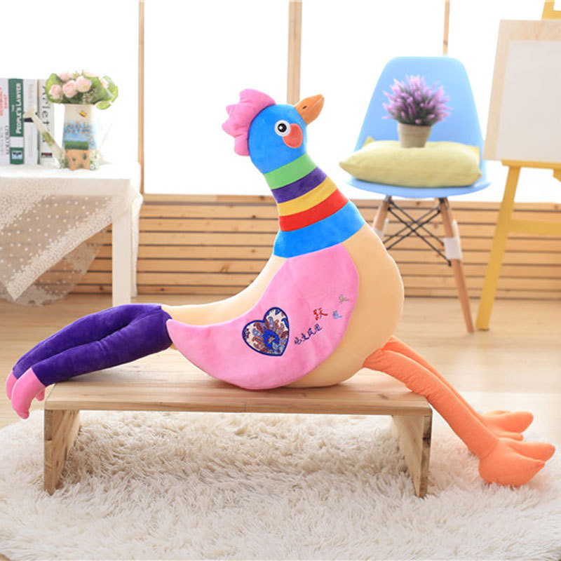 2017 New Arrival Lovely Chicken Colorful Plush Toys Birthday Chick Stuffed Doll Babys Children Gift Stuffing Toy C52 60cm dolphin lovely chicken colorful plush toys birthday chick stuffed doll blue or pink whale gift stuffing toy c38