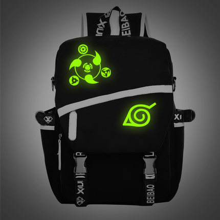 Anime Naruto Luminous Cosplay Backpack For Men/women Students Canvas Schoolbags Mochila Escolar 020805