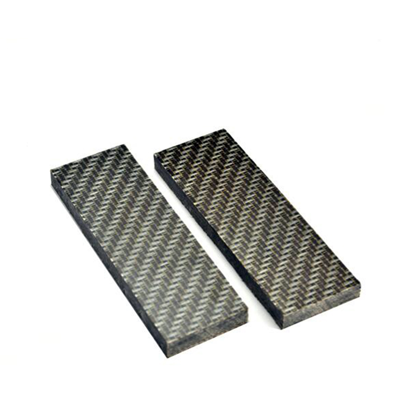 2 Pcs DIY Knife Handle Imported Micarta Shank Patch Space Board Linen Mikata Lattice Pattern 12x4x9cm