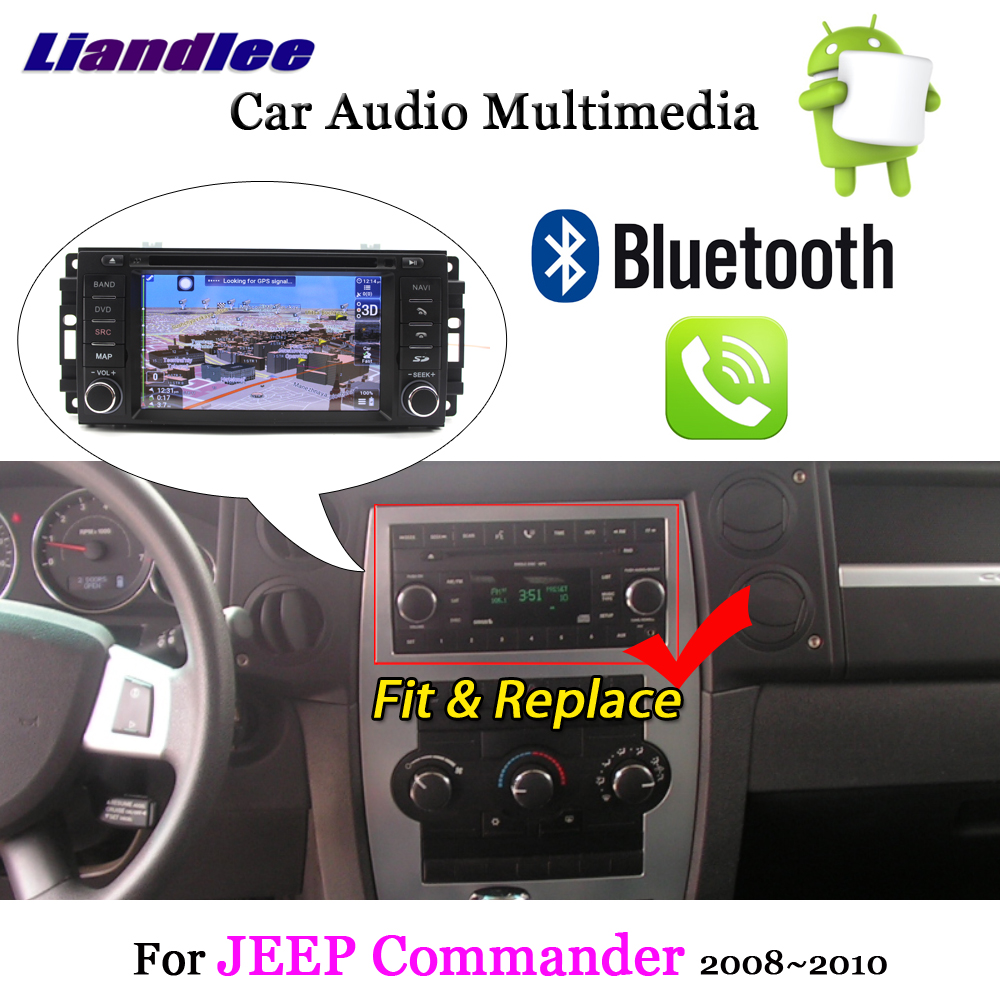 Liandlee Android 8 для JEEP Commander 2008 ~ 2010 стерео радио Carplay ТВ Wifi BT CD DVD gps карта Navi навигация Системы