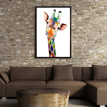 Diamond painting New Cross Stitch kits Animal Giraffe Landscape baby room living room home hotel office shop deco(China)