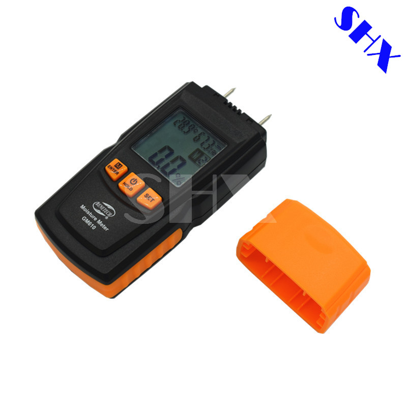 GM610 Mini Handheld Wood Moisture Meter with Temperature Humidity Tester LCD Backlight With Gift Pouch