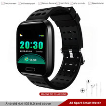 A8 Smart Watch Fitness Tracker Bracelet Heart Rate Blood Oxygen Call Reminder Push Smartwatch For IOS Android Samsung Xiaomi newest r5 smart watch heart rate blood oxygen camera alarm clock sport smartwatch for iphone xiaomi samsung android ios watches