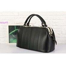 2013 New Fashion Retro European Crocodile Pattern Women Leather Handbag Shoulder Purse Tote OL Noble Doctor Bag VY 16747