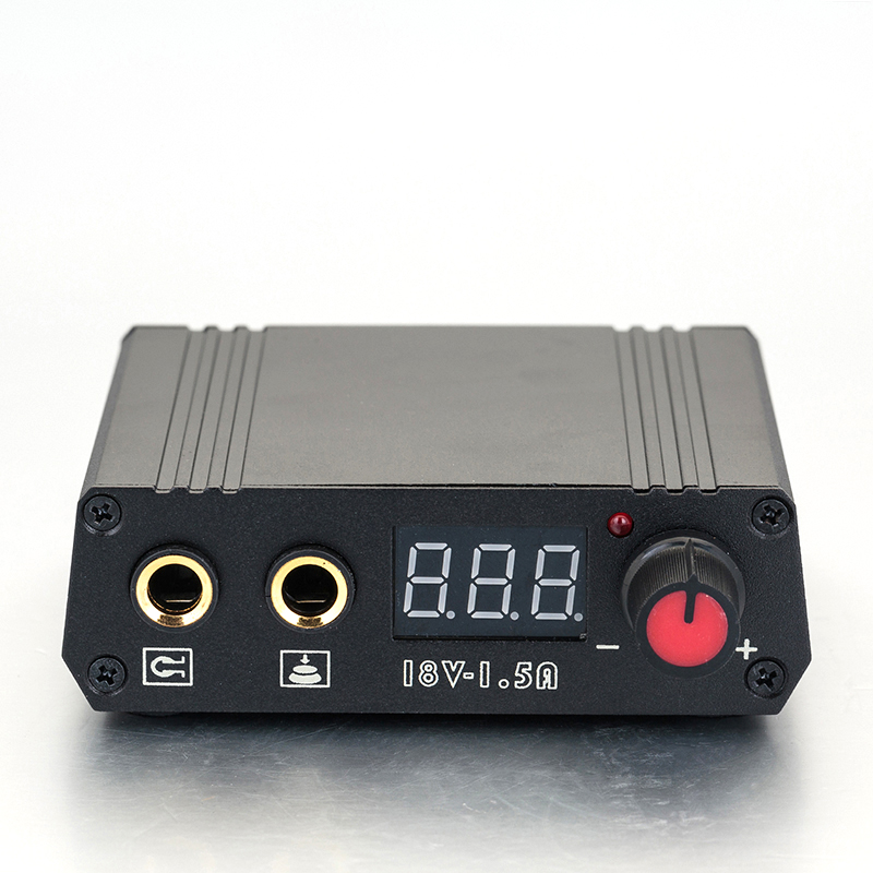 Free Shipping LCD Display Double Output Digital Mini Tattoo Power Supply For Tattoo Machine Speed Control LED Light EU Plug 2014 new free shipping dual display hk 809 with waistbelts machine for pedicure