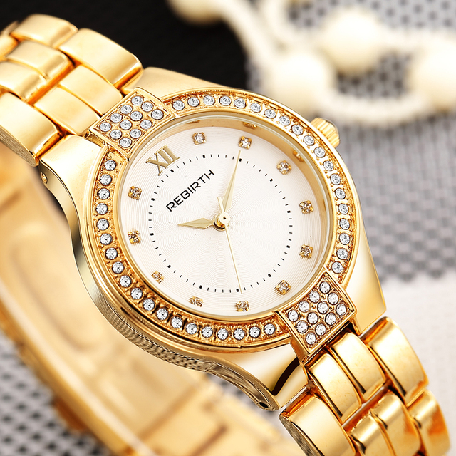 2018 New Luxury Women Watches Stainless Steel Ladies Crystal Rose Gold Bracelet