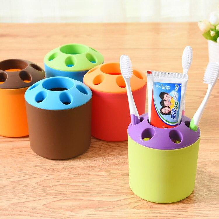 Home Toothbrush Organizer Cosmetic Makeup Storage Box Desktop Pen Organizador -35