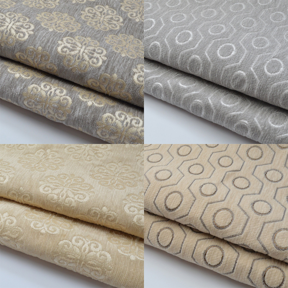 Solid Plain Dyed Jacquard Chenille Fabric Fashion Home Indoor Soft  ~ Where To Buy Sofa Fabric