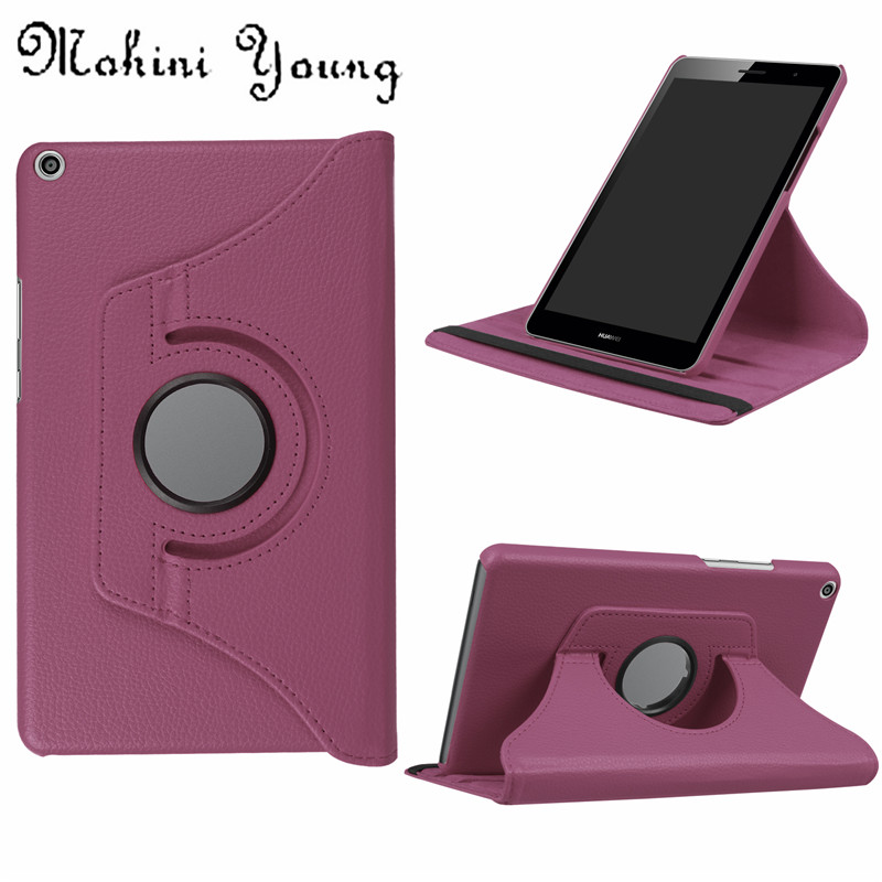(1pc) 360 Rotating PU Leather Case for Huawei MediaPad T3 8.0 Honor Play Pad 2 KOB-L09 KOB-W09 Tablet Funda Cover