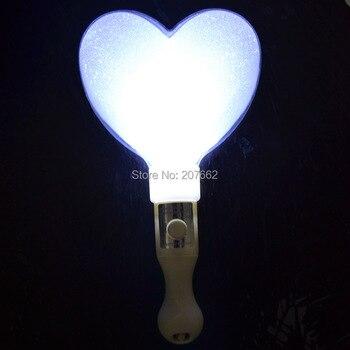2 unids/lote LED brillo corazón palo led amor stick flash varita luz palo boda favores regalos decoración de la Navidad
