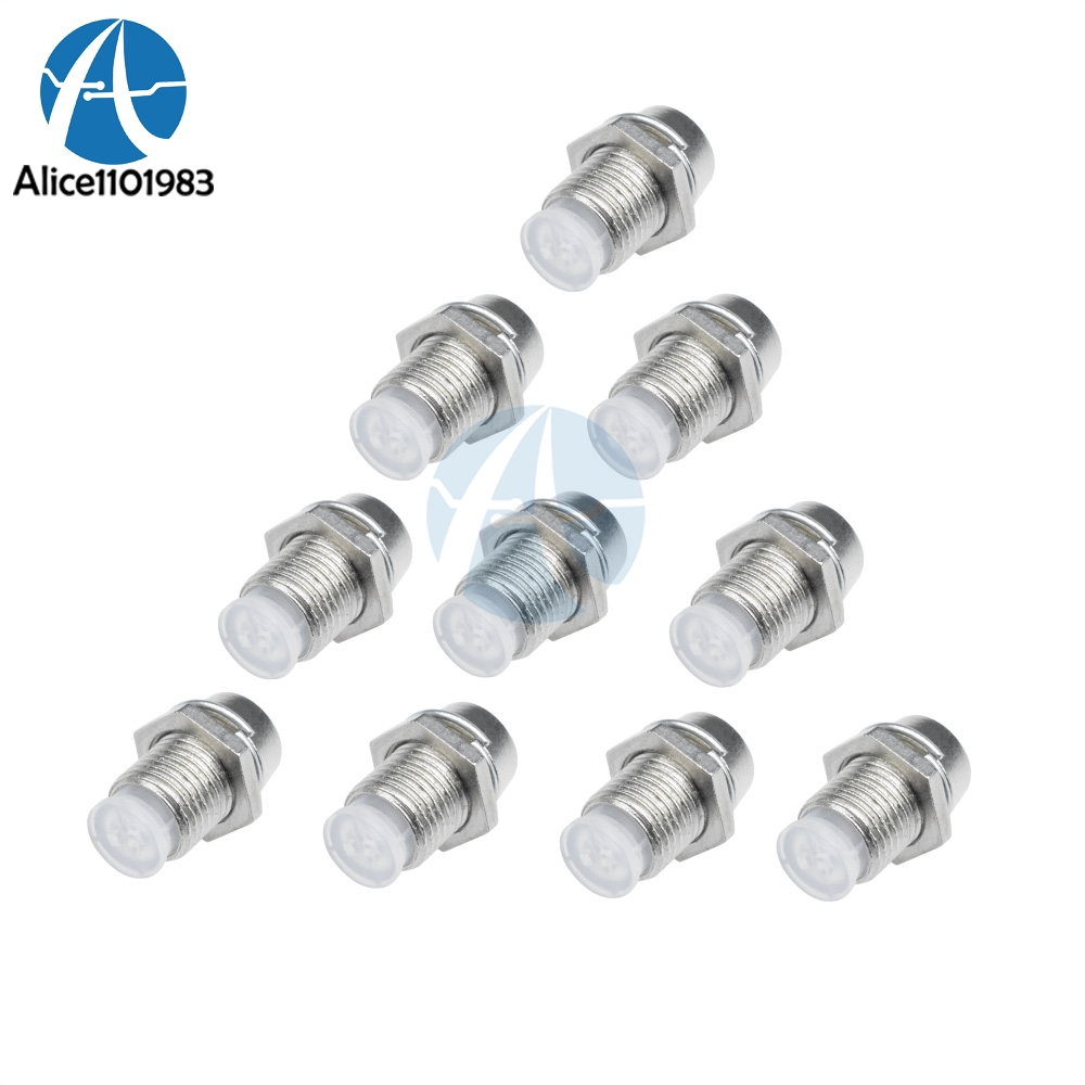 5mm Chrome LED Bezel Holder Silver Metal Mounting for LED High Quality 10 Pieces