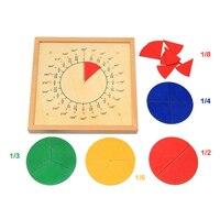 Zabawki dla niemowląt Circular Matematyki Frakcji Podziału Pokładzie Drewniane Zabawki Edukacyjne Dla Dzieci Prezent Matematyka Pomoce Dydaktyczne Montessori Zabawki