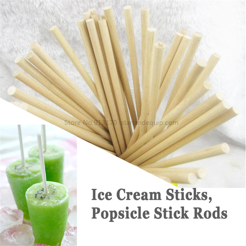 Popsicle Rod Stick Ice Cream Rod Wooden Ice-lolly Stick Length200mm Diameter5mm, 50pcs/lot popsicle rod stick ice cream rod wooden ice lolly stick length120mm diameter5mm 50pcs lot