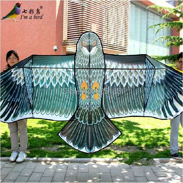 Free Shipping Outdoor Fun Sports High Quality 3.6m Super Power Grey Eagle Kite With Handle And Braided Line Good Flying high quality durable 2000ft 120lbs dacron polyester braided fishing line bridle kite rope free shipping