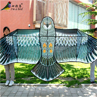 Free Shipping Outdoor Fun Sports High Quality 3.6m Super Power Grey Eagle Kite With Handle And Braided Line Good Flying